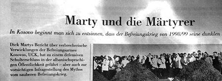 NZZ, Dick Marty, Kosovo, Albanien, Märtyrer