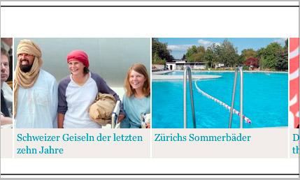 Gutgelaunte Schweizer Geiseln
