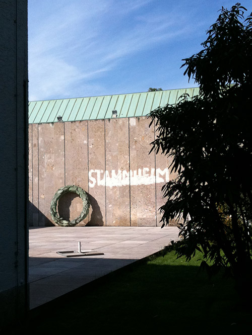 Kunstverein mit Stammheim-Beschriftung