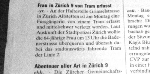 NZZ, Überschrift, Kreis 9, Zürich