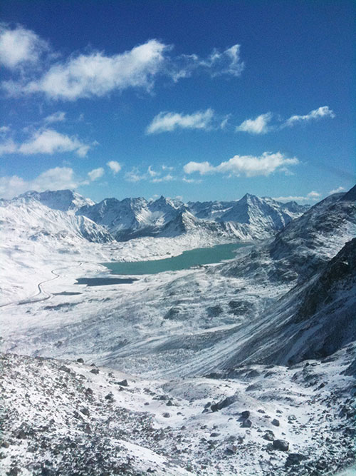 Lago Bianco, von der Diavolezza-Bahn aus gesehen