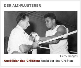Muhammed Ali mit Trainer